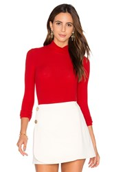 Gettingbacktosquareone Turtleneck Bodysuit Red