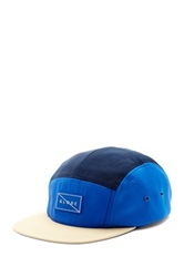 Globe Blocked 5 Panel Cap Blue
