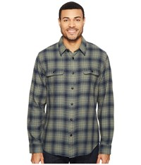 Filson Scout Shirt Teal Navy Bronze Plaid Men's Clothing Gray