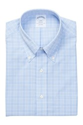 Brooks Brothers Light Blue Plaid Long Sleeve Regent Classic Fit Shirt