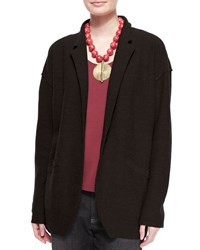 Eileen Fisher Lightweight Boiled Wool Jacket Black