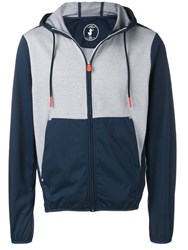 Save The Duck Zip Front Hoodie Blue