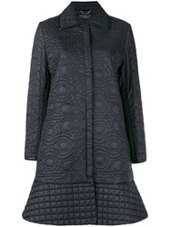 Salvatore Ferragamo Quilted Gancio Coat Black