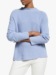 Eileen Fisher Funnel Neck Top Hyacinth