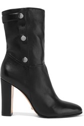 Schutz Studded Leather Ankle Boots Black