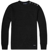 Armor Lux 1901 Fouesnant Mariner Crew Knit Black