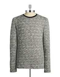 7 Diamonds Heathered Pullover Sweater Grey