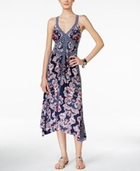 Inc International Concepts Printed Handkerchief Hem Maxi Dress Only At Macy's Wandering