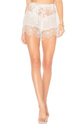 For Love And Lemons Caracas Lace Shorts White