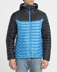 The North Face Blue And Navy Thermoball Insulated Waterproof Synthetic Hooded Down Jacket