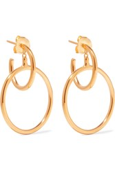 Maria Black Norma Medi Gold Plated Hoop Earrings