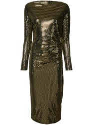 Vivienne Westwood Anglomania Metallic Fitted Dress Black