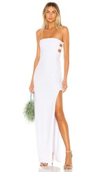 Nookie Flaunt Gown In White.