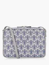 Liberty London Maddox Iphis Print Leather Camera Bag Grey