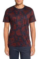 Ted Baker Men's Big And Tall London Floral Print T Shirt Dark Orange