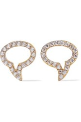 Aamaya By Priyanka Speech Bubble Gold Plated Topaz Earrings Gold