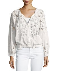 Theory Maryana Vintage Eyelet Jacket White