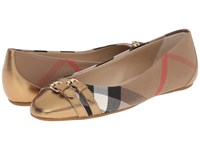 Burberry Avonwick Heritage Gold Women's Flat Shoes Beige