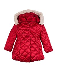 Mayoral Knitted Puffer Jacket Size 3 7 Red