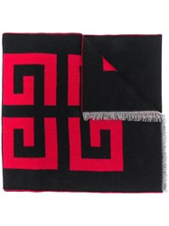Givenchy Logo Printed Scarf Black