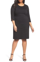 Sejour Plus Size Women's Ponte Knit Shift Dress