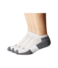 Thorlos Lite Running Micro Mini 3 Pair Pack White Black Men's No Show Socks Shoes