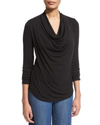 Nydj Fit Solution Cowl Neck Tee Black