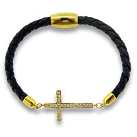 Liza Schwartz Jewelry Cross Leather Bracelet Various