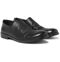 Marsell Whole Cut Leather Loafers Black