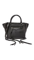 Rebecca Minkoff Side Zip Mini Regan Tote Black