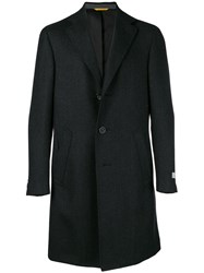 Canali Single Breasted Coat Black