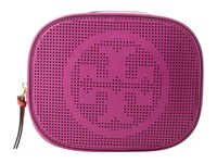 Tory Burch Logo Perforated Cosmetic Case Hibiscus Flower