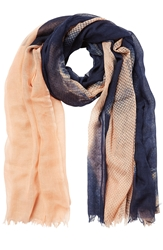 Closed Wool Silk Printed Scarf