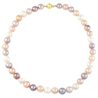 A B Davis 9Ct Gold Pearl Necklace Blush Multi