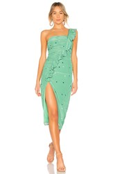 Majorelle Tali Midi Dress Green