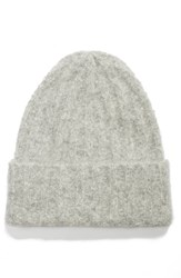 Vince Ribbed Beanie Grey Soft Grey