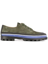 Valentino Garavani Lace Up Shoes Men Leather Polyester Rubber 41 Green