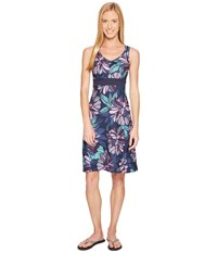The North Face Getaway Dress Cosmic Blue Large Floral Print Women's Dress Navy