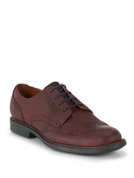 Cole Haan Great Jones Textured Leather Wingtip Oxfords Burnt Brown