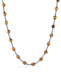 David Yurman Spiritual Beads Rosary Necklace In Tiger Eye