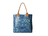 Coated Canvas Tote Pendleton Bandana Canal Blue Tote Handbags