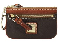 Dooney And Bourke Pebble Small Coin Case Chocolate Coin Purse Brown