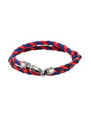 Tod's Braided Double Wrap Bracelet Blue