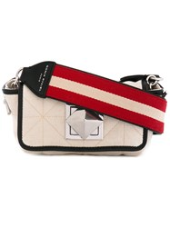 Sonia Rykiel Le Copain Shoulder Bag Women Cotton Leather One Size White