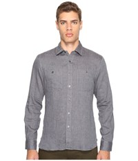 Todd Snyder Linen Two Pocket Shirt Charcoal Men's Clothing Gray