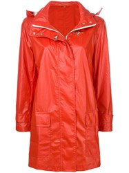 Fay Straight Fit Raincoat Red