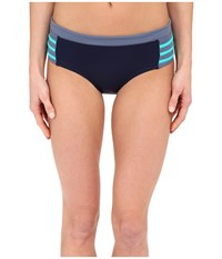 Dkny A Lister Hipster Bottom W Stripping Detail Currant Women's Swimwear Red