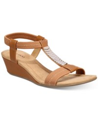 Alfani Women's Vacay Wedge Sandals Only At Macy's Women's Shoes Camel