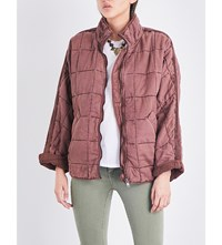 Free People Dolman Quilted Jacket Terracotta