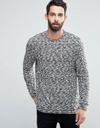 Only And Sons Weaved Crew Neck Jumper Black